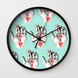 """Get a Grip Pattern"" Wall Clock"