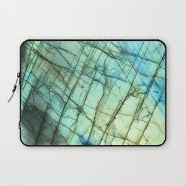Labradorite gemstone print Laptop Sleeve