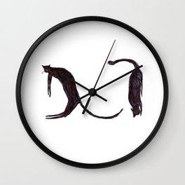 languid cats Wall Clock