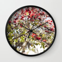 Red Cotton Tree Wall Clock