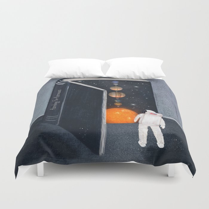 astrology for astronauts Duvet Cover