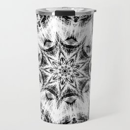 Atomic Black Center Swirl Mandala Travel Mug