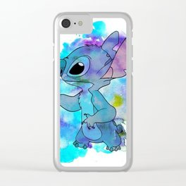 Stitch Watercolor Clear iPhone Case