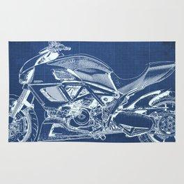 Blue Carbon Diavel Rug