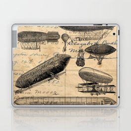 Vintage Hot Air Balloon Study Laptop & iPad Skin