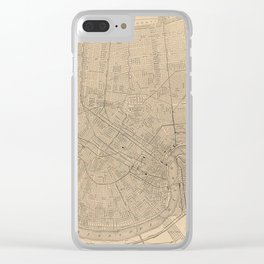 Vintage Map of New Orleans LA (1908) Clear iPhone Case