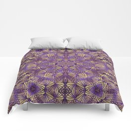 Purple Lace Pattern Comforters