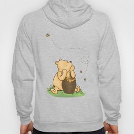 Classic Pooh with Honey - No background Hoody