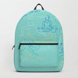 Turquoise Yoga Backpack