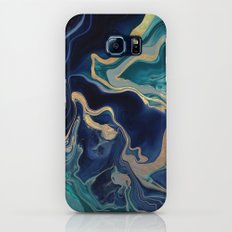 DRAMAQUEEN - GOLD INDIGO MARBLE Galaxy S8 Slim Case