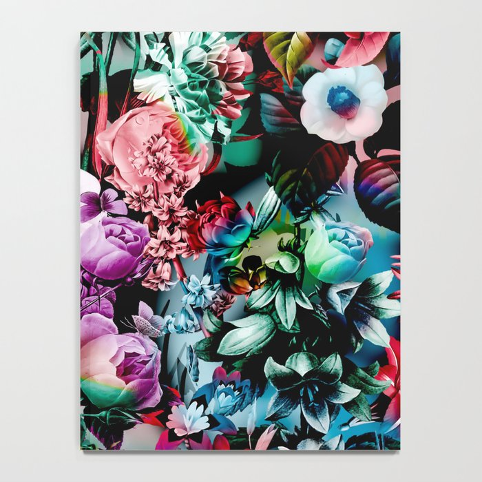 Multicolor Floral Pattern Notebook