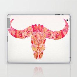 Water Buffalo Skull – Pink Ombré Laptop & iPad Skin