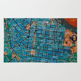 Odessa old map Rug