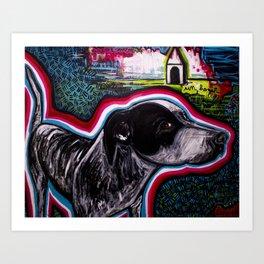 A dog dream Art Print