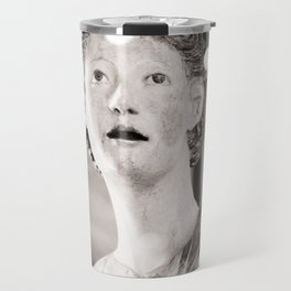 Halo To Prove It Travel Photography In The Louvre With Snark in Gold Foil Typography Travel Mug