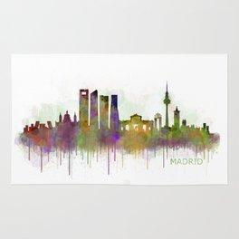 Madrid City Skyline HQ v5 Rug