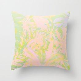 Tropicalis clean Throw Pillow