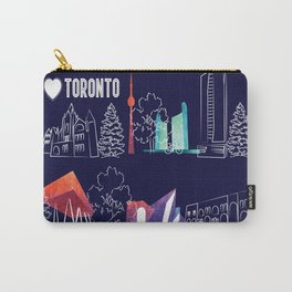 I heart Toronto (navy) Carry-All Pouch