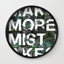 Mistakes Wall Clock