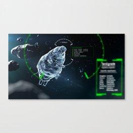 little tardigrade - big survivalist Canvas Print