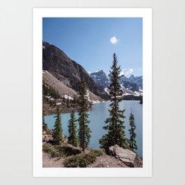 Landscape Photography Lake Moraine Canada Art Print