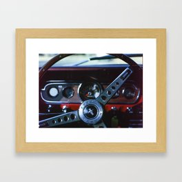 Mustangs Have More Fun Framed Art Print