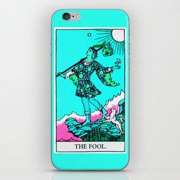 0. The Fool- Neon Dreams Tarot iPhone Skin