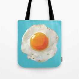 Fried Egg Polygon Art Tote Bag