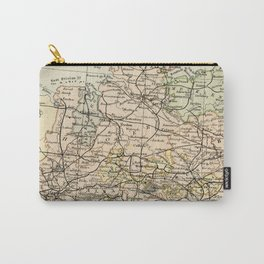 Old and Vintage Map of Germany Outline Carry-All Pouch