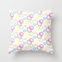 Curved & Twisted Lines Throw Pillow