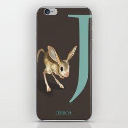 J is for Jerboa: Under Appreciated Animals™ ABC nursery decor dark grey unusual animals iPhone Skin