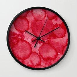 Rose Madder Watercolour Wall Clock