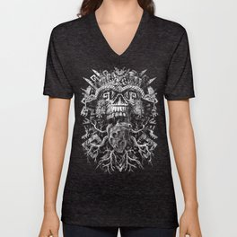 Aztec Skull Unisex V-Neck