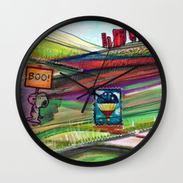Groovy Snoopy Nature Collage Wall Clock
