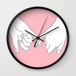 Pinky Promise 2 Wall Clock