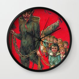 Krampus Wall Clock