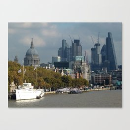 Thames: City of London Canvas Print