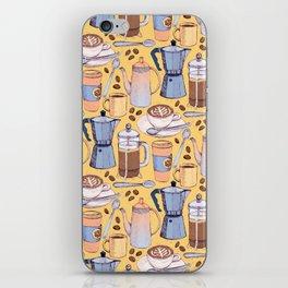 Coffee Love on Yellow iPhone Skin