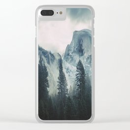 Cross Mountains II Clear iPhone Case