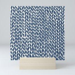 Hand Knit Zoom Navy Mini Art Print