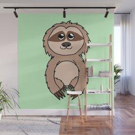 Little sloth Wall Mural