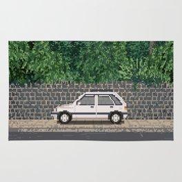Rainy day / Pixel art Rug