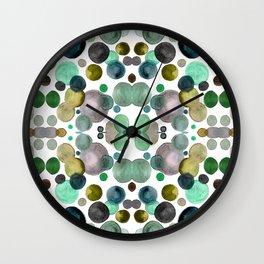 Watercolor circles Wall Clock