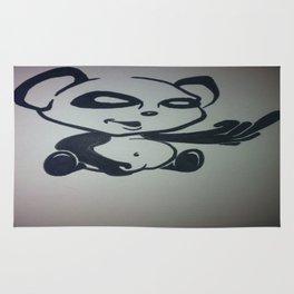 Panda With Attitude Rug