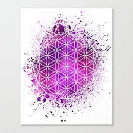 Flower Of Life Sacred Geometry Canvas Print