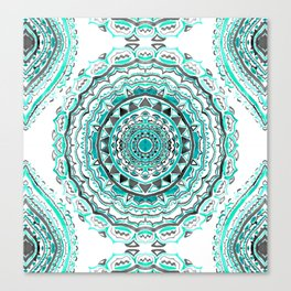 Supernova-In Teal, Aqua, & Mint Canvas Print
