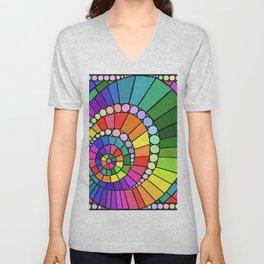 Rainbow Spiral Unisex V-Neck