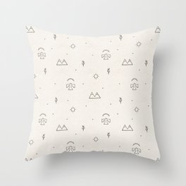 Death Valley in Ivory and Clay Throw Pillow