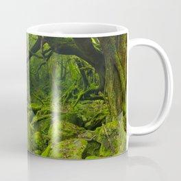 Lush rainforest along Shiratani Unsuikyo trail on Yakushima Island, Japan Coffee Mug