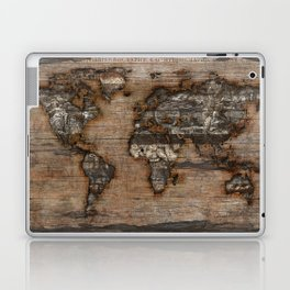 Reclaimed Map 2 Laptop & iPad Skin